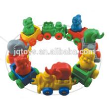JQ6026 Пластиковые животных поезд строительных блоков Ссылка игрушки для продажи