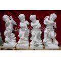 Tallando la estatua de mármol del ángel del bebé de la escultura de la querube de la piedra (SY-X004)
