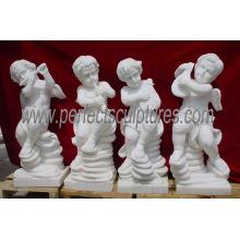 Carving Stone Cherub Skulptur Kleine Baby Engel Marmor Statue (SY-X004)