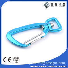 Customized Logo Printing Promotional D Shaped Keychain Anodized Aluminum Climbing Carabiner
