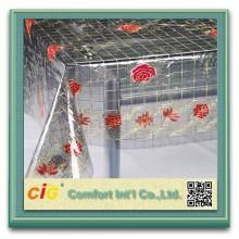 Harga yang murah dicetak pvc Jadual kain Kristal pvc Jadual kain