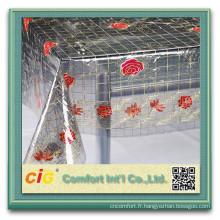 Bas prix imprimés pvc tissu cristal pvc table nappe
