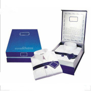Fashional design dress man shirt paper box with lid