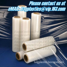 Stretch film, wrap, sheeting, High Quality LLDPE Colorful hand stretch Film with strong anti-pressure, Ldpe stretch film,pe stre