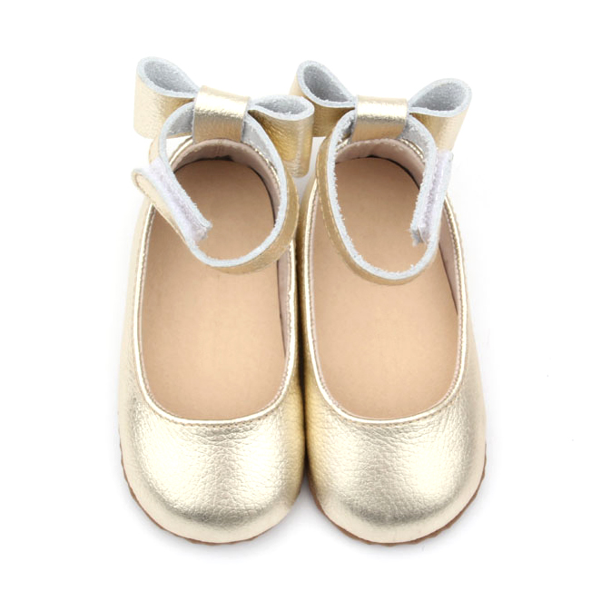 Fancy Girl Princess Soft Baby Leather Bowknot Shoes
