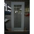 Frosted Tempered Glass Inserted Waterproof Bathroom Door
