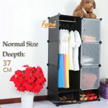 Cbinet de almacenamiento plástico negro DIY con muchos colores disponibles (FH-AL0523-3)