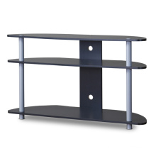 Baxton Studio Orbit TV Stand in Grey Tube