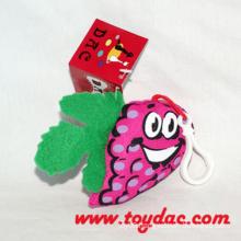 Plush Stuffed Fruit Grape Key Ring