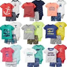 6 to 24 Months Shorts Shirt Romper 3PCS Clothes Summer Baby Boys′ Clothing Sets
