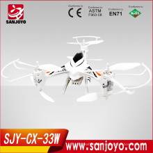 2015 High Quality Toys CX-33W quadcopter kids plastic toy flying drone with hd camera WIFI transmite