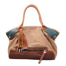 Tassel Decorated Lady Bags, PVC Tote Handbag (FJ28-126)