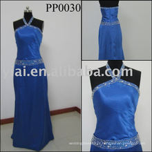2010 fabricação de vestido de noiva de seda sexy com pérolas PP0030
