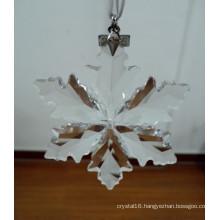 High Qualiy Annual Edition Crystal Snowflakes Ornament, Crystal Snowflake Pendant, Crystal Hanging Snowflake
