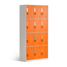 12 Door Steel Lockers for Changing Room