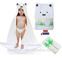 100% bamboo bear baby hooded towel bamboo towel baby keep your baby warm and dry Super soft and fluffy