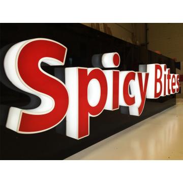Подсветкой 3D письма знак для быстрой Название продовольственный магазин