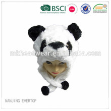 Soft plush animal shaped hats plush animal head hat