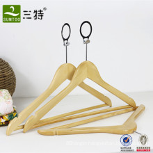 Hotel closet anti theft safe clothes wooden hanger