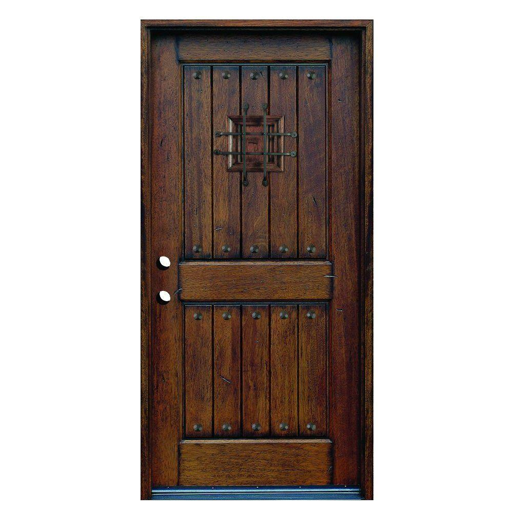 Distressed Solid Wood Prehung Front Door