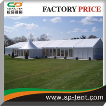 big wedding party tent with linings and solid wall for all weather events marquee