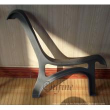 Pierna de banco de parque de metal con hierro fundido