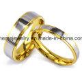 Shineme Schmucksache-Art- und Weisegold überzogener Edelstahl-Ring (SSR2781)