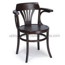 Wholesales Round Soild Wood Armrest Cafe Chair for Restaurant (SP-EC226)