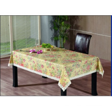 PVC Embossing Tablecloth with Flannel Backing (TJG0001)