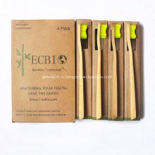 Лучший держатель зубной щетки Bamboo Зубная щетка Щетина