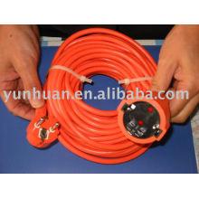 Type européen extension cordon ligne ext câble