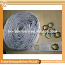 Ruban à rideau à oeillets blancs 42mm, ruban à rideaux avec trous 42mm