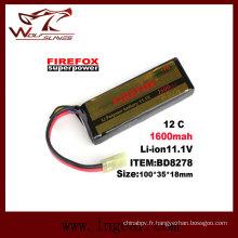 Firefox-1600mAh 11.1V 12C puissance LiPo batterie Li-polymère