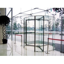 All Glass Automatic Revolving Doors with Night Security