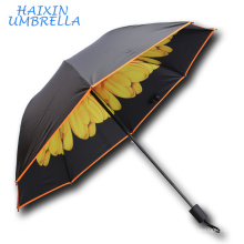 Best Wedding Favour Gift Pretty New All kinds Flower Design Foldable Portable UV Protection Sun Umbrella Personal China Factory