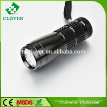 Длительный срок службы 12000-15000MCD 9 привело алюминиевый светодиодный фонарик фонарик