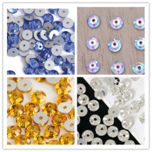 Sew on Rhinestones with Middle Hole