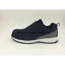 Strong Fabric Flyknit Wear Resisting Soft with Toe Protection Safety Shoes (16039)