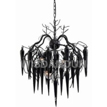 decorative black chandelier glass pendant light