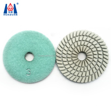 Three colors angle grinder abrasive pad for polishing marble granite sandstone