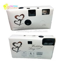 Câmeras descartáveis de festa de casamento branco clássico com caixa de presente 18 Exp.