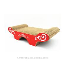 Nouveau modèle de lit de maison de chat d'éraflure de chat de carton ondulé de modèle de 2018 SCS-7014