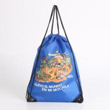polyester fabrics string bag kids school bag