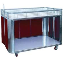 Supermarché promotion bureau/table en acier affichage chariot/vente
