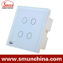 Enchufe de pared de 4 teclas, material de ABS del interruptor de pared de control remoto