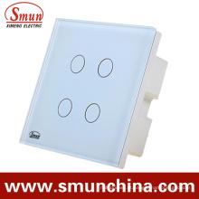 Soquete de parede chave de 4 toques, material de controle remoto do ABS do interruptor da parede
