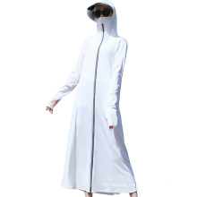 Long Women′s Sun Protection Suit with Face Mask Upf50+