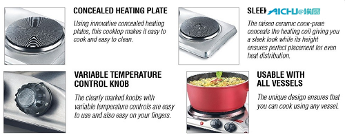 Variable Temperature Control Knob Stove
