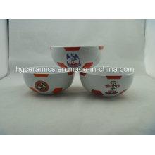 Cuencos de fútbol, cuenco de fútbol de cerámica, regalo del equipo de fútbol