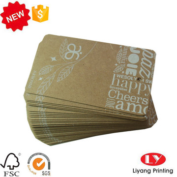 Cheap tag de papel kraft pendurar com furo